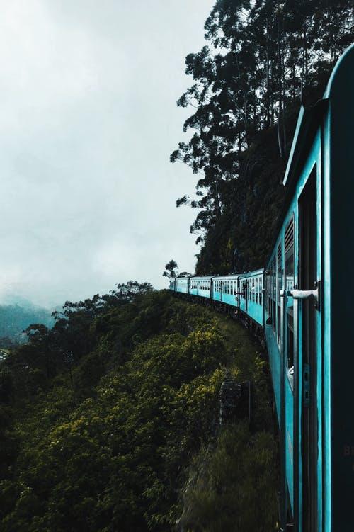 train into fog